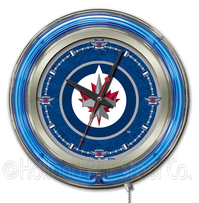 Nhl Logo Double Ring Neon Wall Clocks Hbs Neon Wall