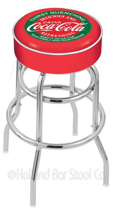 CocaCola Logo Bar Stools